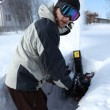 Snow blowing man — Stock Photo #4907467