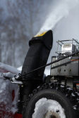 Snow blowing machine — Stock Photo