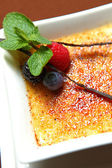 Dessert creme brulee — Stock Photo