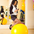 Businesswoman fitness — Stock Photo