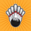 Royalty-Free Stock 矢量图片: Bowling Ball Design Element Set 2