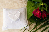 Casket in the shape of a heart — Stock Photo