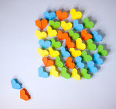Origami paper hearts — Stock Photo