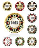 Gambling chips — Stock Vector