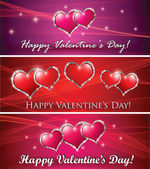 Valentine's banners — Stock Photo