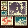 Royalty-Free Stock Vector Image: Venice Carnival stamps