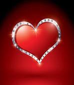 Beautiful red heart — Stock Vector