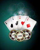Casino elements — Stock Vector