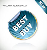 Colorful vector stickers — Stock Vector