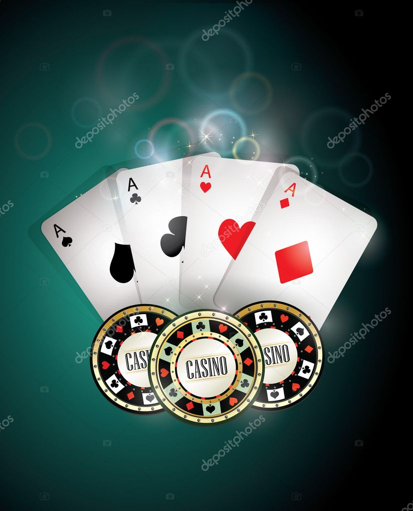 Poker cards and chips   Stock Vector #4671494