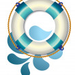 Stock Vector: Life buoy