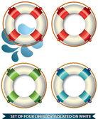 Life buoys — Stock Vector