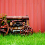 Vintage Tractor — Stock Photo #4562873