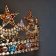 Rhinestone tiara crown — Foto Stock