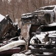 Stock Photo: Wrecked cars