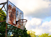 Vintage Basketball Hoop — Stock Photo