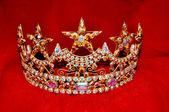 Rhinestone tiara crown — Stock Photo