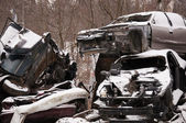 Wrecked cars — Stock Photo