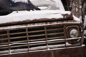 Wrecked old truck — Stock Photo