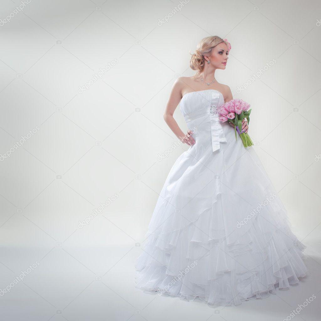 Model Wedding Photos Wearing Luxurious Wedding