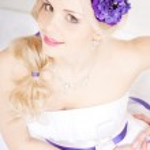 Wedding dress on fashion model — Stock Photo