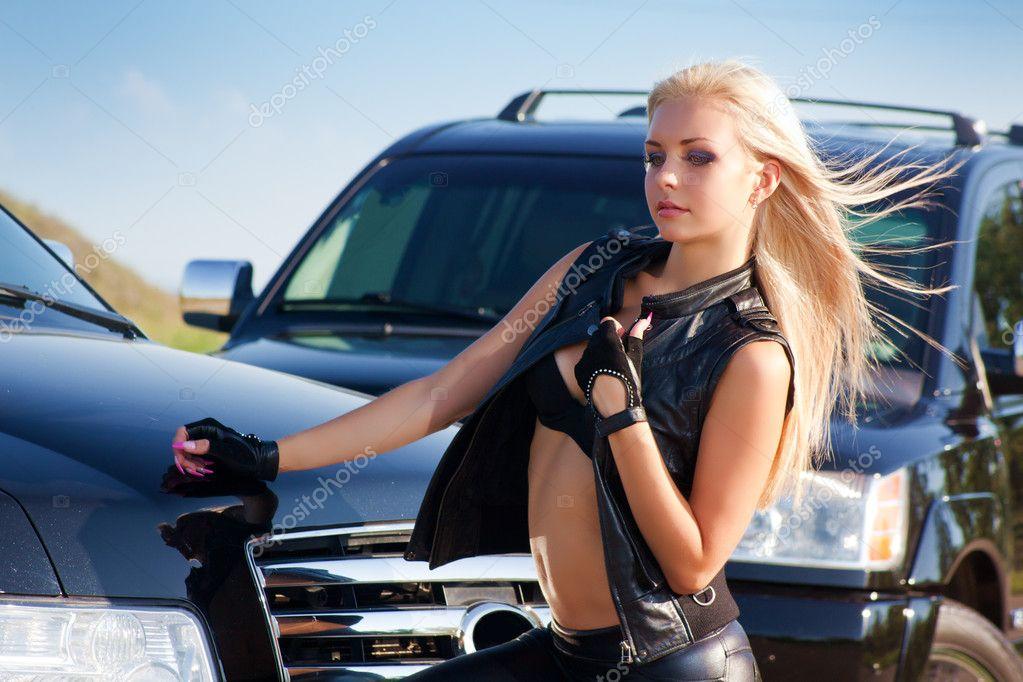 Sexy Blonde Car 117