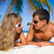 Young couple on beach — Stock Photo #4562512