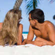 Young couple on beach — Stock Photo #4562560