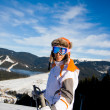 Young woman on ski vacation — Stock Photo