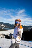 Young woman on ski vacation — Stock fotografie