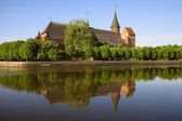 Cathedral and the river embankment Pregolya in Kaliningrad — Stock Photo