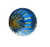 Blue Christmas sphere — Stock Photo