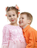 Kids depict couple — Stockfoto