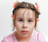 Portrait of the little girl — Stock Photo