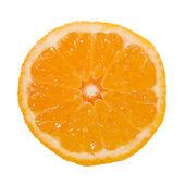 Metà di arancia isolato su sfondo bianco — Foto Stock