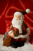 Statuette of Santa Claus — Stock Photo