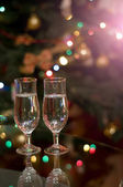 Glasses with champagne — Stockfoto