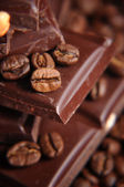 Macro shot of coffee beans — Stock Photo