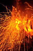 Abstract spark of bonfire — Stock Photo
