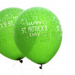 St. Patrick's Day balloons — Stock Photo