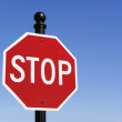 Stop traffic sign — Stock Photo