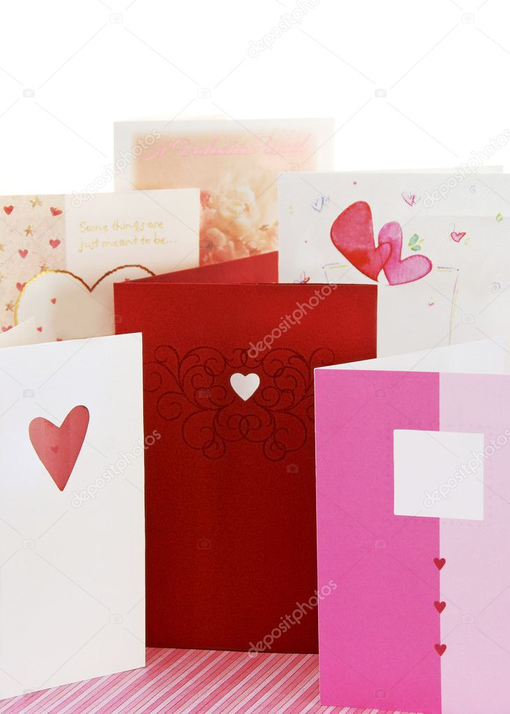 Sending Valentine's greeting cards to our loved ones for Valentine's day, is a tradition in the USA, and other parts of the world. — Stockfoto #4707186