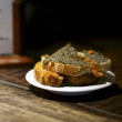 Olive tapenade bruschetta - Stock Photo