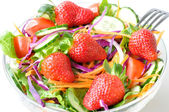 Fresh strawberry salad — Stock Photo