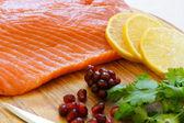Fresh filleted fish — Stock Photo