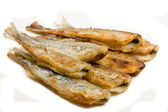 Fried small smelt fish — Stock Photo