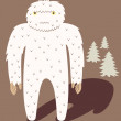 Stock Vector: Bigfoot