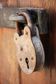 Rusted Door locker close up — Stock Photo