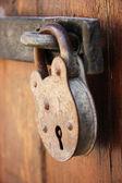 Zardzewiałych drzwi szafki z bliska — Zdjęcie stockowe