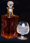 The decanter and crystal bocal — Stock Photo